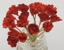 RED GYPSOPHILA / FORGET ME NOT (Single Layer) Mulberry Paper Flowers